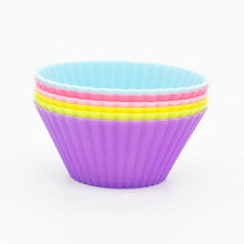 6 Pcs/lot Silicone Cake Mold Food Grade Round Shaped Muffin Cups Cupcake Pan Cake Baking Tools