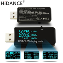 OLED 128x64 USB Tester DC voltmeter current voltage Meters Power Bank battery Capacity monitor qc3.0 Phone charger detector(China)