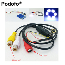 Podofo DIY Only Dia 7mm Mini CCTV Camera Module CMOS 720*480 Pixels 60 Degree 6 LED Night Vision(China)