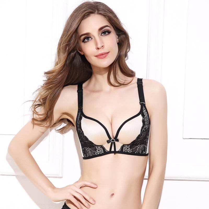 DeRuiLaDy Women Push Up Bra Lace Bralette Adjusted Comfortable Wireless Bra Underwear Women Sexy Lingerie Plus Size C D Cup 9