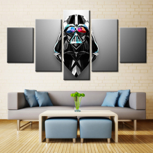 Hot Sale Famous Movie Star Wars Poster Oil Painting Canvas for Wall Art Home Decorations Fashion Gifts for Fans No Frame 5PCS