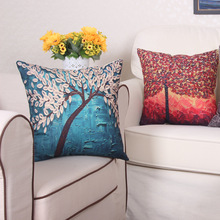 New arrival good quality linen  cushion pillow for home decoraion 3D printing flower/tree 45*45cm