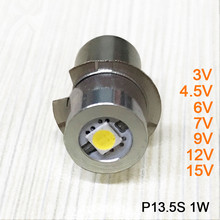 New 1W P13.5S 3V 4.5V 6V 7V 9V 12V 15V LED Flashlight Torch Replacement Bulbs with Epistar Chips LED Flashlight Bulb Light