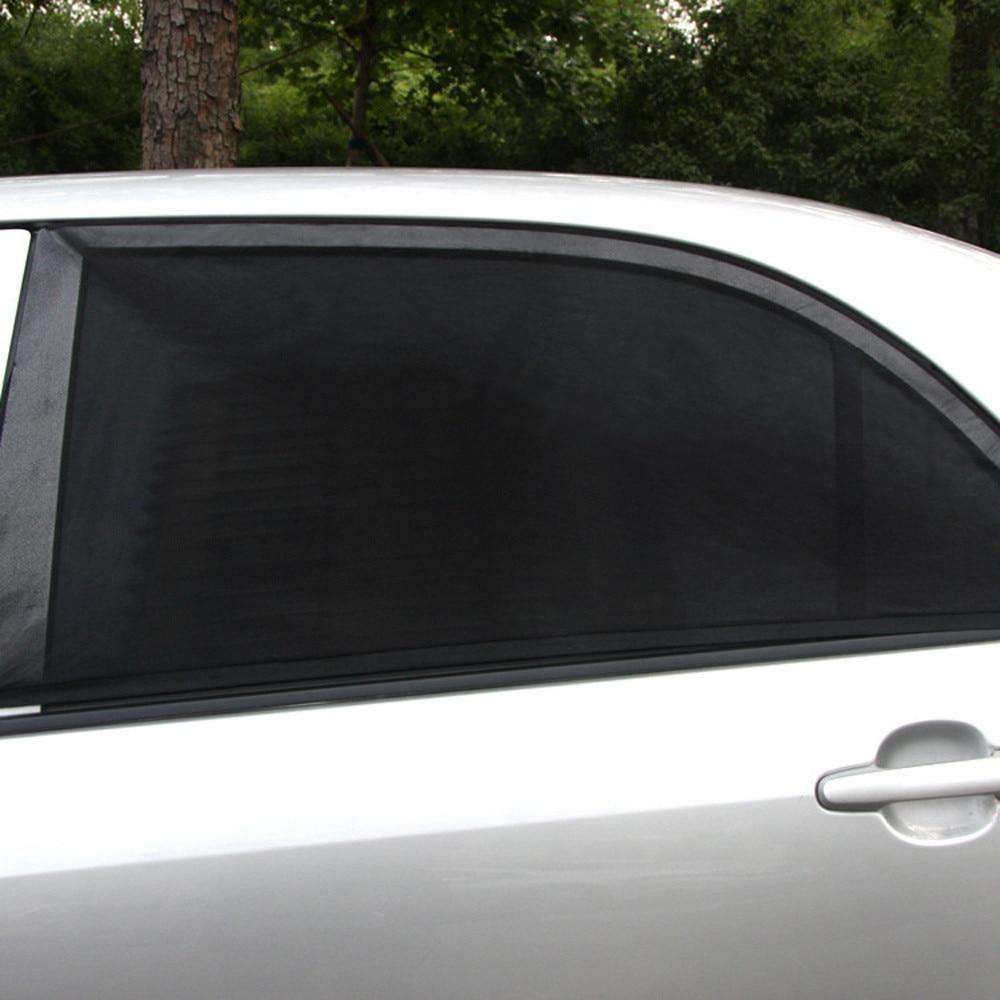 Dropship 2x Car Rear Window UV Mesh Sun Shades Blind Kids Children Sunshade Blocker Black Gift Jun 20
