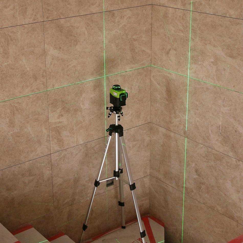 Kaitian 3D Laser Level Green 360 Nivel Laser 12 Lines Lazer Level 3D Tripod 58 Construction with Receiver Bracket Building Tool 5