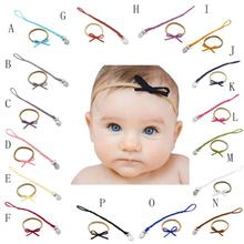 Baby Chain Dummy Nipple Belt Braided Pacifier Holder Clips Bow Headbands Set Aug 15(China)