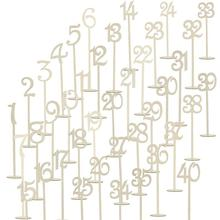 40pcs 1-40 Wooden Table Numbers Wooden Wedding Supplies Wedding Place Holder Table Number Figure Card Digital Seat Decoration
