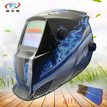 Auto Darkening black Welding Helmet Solar Power inner battery welder Welding tool mask manufacturer free Shipping GD01(2200DE)Y(China)