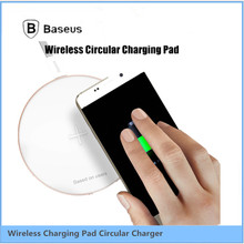 Original Baseus Qi Wireless Charger For Samsung Nokia LG Aluminum Alloy Ultra Slim Fast Charger For Cell phone New Fashion