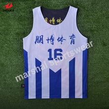 Top quality OEM reversible basketball jersey double mesh 100%polyester team jerseys(China)