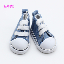 Assorted Colors 5cm cowboy blue Mini Doll Sneakers Boots for Tilda Cud BJD Accessories
