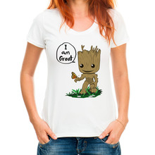 Date je suis groot lettre conception kawaii t-shirt femmes t chemise marque clothing blanc à manches courtes o cou hippie top t-shirts L7-8 #(China)