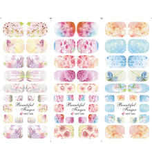 1sheets Elegant Beautiful Blossom Flower Printing Nail Art Sticker Water Transfer Full Cover Tips Nails  HOT343-345