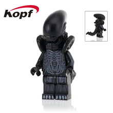 Single Sale PG1050 Super Heroes Zombie One-Eyed Alien Halloween Cyclops Omino Snake Undead Building Blocks Children Gift Toys(China)