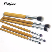 Fulljion New Makeup Brushes Professional Make Up Brushes Bamboo Wood Fiber Brush Set Makeup Tool Eyebrow Eyeliner Powder Brushes