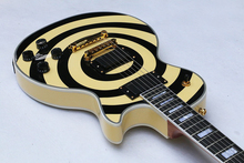 Custom  Guitar Zakk Wylde Bullseye black+yellow style ebony finger board LP Electric Guitar