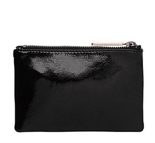 PART 1 LEATHER MI LOVE ZIP POUCH WALLET CLUTCH BAG WITH METAL PULLER SMALL SIZE 15 X 10 CM(China)