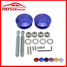 Universal Push Button Billet Hood Pins Lock Clip Kit Car Quick Latch New For FORD Mustang 4.6L V8 96-04