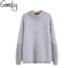 High-quality 2017 Winter Thick and Soft Braided Cozy Women Turtleneck Pullover Sweater Female Dress Coat Plush Mohair Jersey Hot(China)
