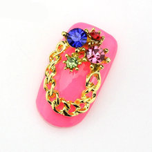 nail supplies wholesale selling Japanese nail gold alloy jewelry