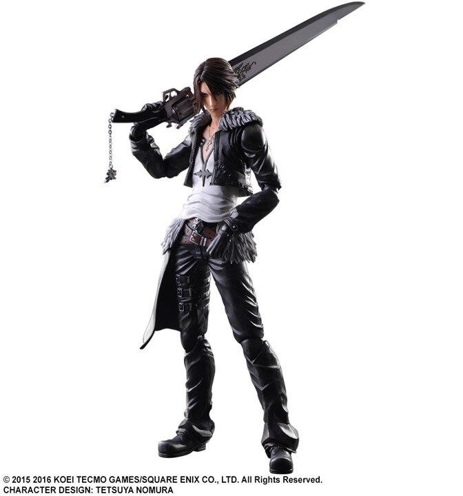 Final Fantasy Play Arts Kai Dissidia Squall PVC Action Figure Toy 26cm Game Anime Final Fantasy Playarts Kai<br>