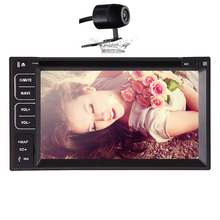 Universal Automotive PC Bluetooth Touchscreen Radio Electronics Double 2 Din SD Car DVD Player Stereo Steering Wheel CAM