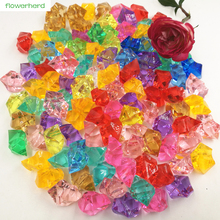 250pcs Acrylic Crystal Stone Artificial Ice Cubes Home Garden Aquarium Decor DIY Accessories Wedding Decoration Confetti(China)