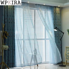 New Arrival Birds Modern Window Sheer Curtain Kitchen Living Room Bedroom Finished Blinds Tulle Windows Plants Fabric 180&40