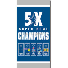 Dallas Cowboys Jersey Flags 5X SUPER BOWL CHAMPIONS Banner World Series 2016 3 X 5ft Football Cowboys Flag(China)