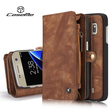 For Samsung Galaxy S7 Case edge Flip Wallet Leather Luxury Cover Full Phone Protective Black Brown Cases for Samsung S7 edge New