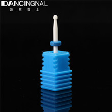 High Quality Nail Drill Bit White Ceramic Nail Art Flame Bits Small Head Electric Manicure  Drill Polishing Clean Nail Accessory