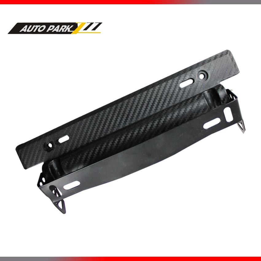 universal car adjustable carbon fiber license plate frame,plastic license plate frame,plastic license plate