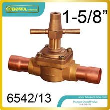 "1-5/8"" Global Manual control Valve with extend longer tube for slurry ice maker machine and air dryer machine"