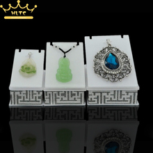 New Item Jewelry Display High Quality Acrylic Pendant Holder Necklace Stand 3pcs/lot Jewelry exhibition stand(China)