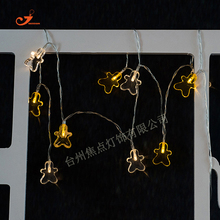 New cute Gold Christmas Gingerbread 10 LED String Light Festival lighting Winter Holiday Home Party Room Garden Tree Decor Gift(China)