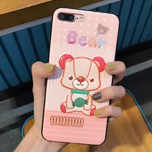 Fashion Cortex Cute 3D Bear Rabbit Dog Case For iphone 8 7 Plus Luxury Lovely Back Cover Phone Cases For iphone 8 7 6 6S Plus(China)