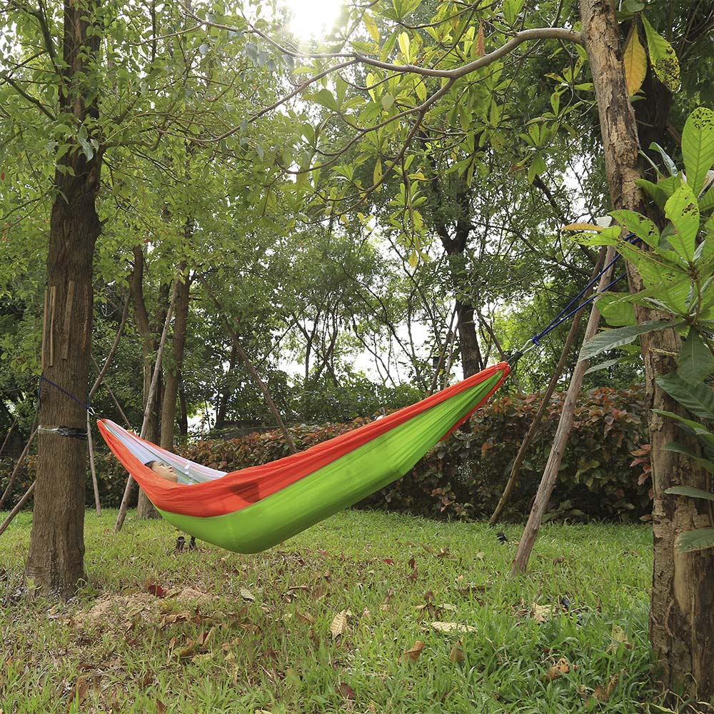 260 x 140CM Portable Two People Parachute Fabric Mosquito Net Hammock for Indoor Outdoor Use