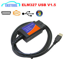 High Quality V1.5 ELM327 USB Cable Plastic Auto Code Reader Interface CAN-BUS Tester ELM 327 Cable Works Multi-Brand Cars