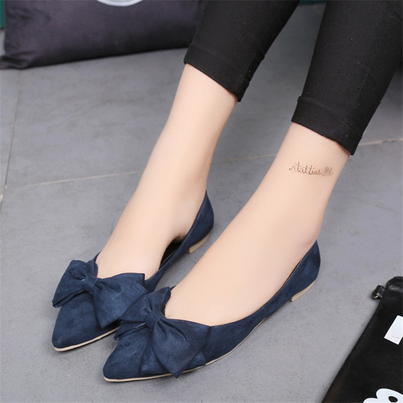 2017 5 colors PU women shoes classic colors bowtie flat shoes ballet princess shoes zapatos mujer casual sexy female boat shoes<br><br>Aliexpress