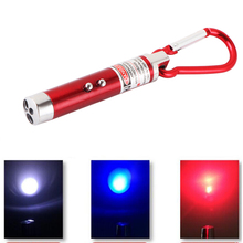 Remarkable 3 In 1 Red Laser Pointer Pen Flashlight Counterfeit Money Detector Climbing Hook