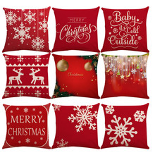 45x45 Square Pillow Cover Cushion Case Toss Pillowcase Hidden Zipper Closure Pillows Christmas Style Pattern Pillow Case Decor 3(China)