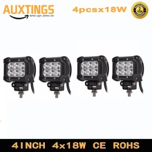 4pcs Crees chip LED 18W Work Lamp 4 Inch Light Bar 24v 12V IP67 SPOT FLOOD FOR 4x4 OFF ROAD ATV TRUCK BOAT UTV SPOTLIGHT