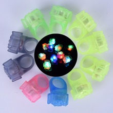 1 Pcs LED Light Rose Flashing Finger Ring Event Party Supplies Glow Toys(China)