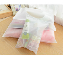 Portable Travel Set Cosmetics Clothes Lingerie Bag Transparent Plastic Storage Bag Self Sealed Zipper