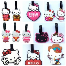 13Style Hello Kitty Cute Creative Silicone Luggage Tag Pendants Hang Tags Tourist Products Toy Figure 1pc