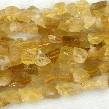 "Wholesale Natural Genuine Yellow Citrine Nugget Free Form Rough Matte Faceted Loose Beads 12-16mm 15"" 04282"