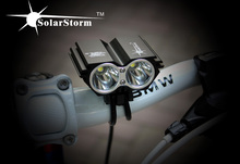 Bicycle light accessories Bike Led lamp Waterproof SolarStorm X2 5000 Lm 2x  U2 Cycling Lamp 4x 18650 Battery Pack + Charger
