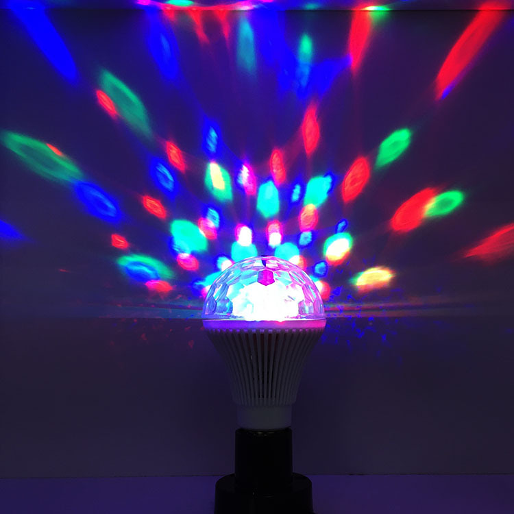 E27 3W LED RGB Stage Light Crystal Laser disco lighting lamp DJ LED Bulb Party Dancing Lamp Free Shipping