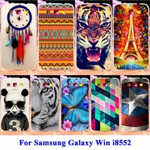 AKABEILA Soft TPU & Hard PC Mobile Phone Cases For Samsung Galaxy Win I8552 Covers GT-i8552 GT i8550 i8558 Covers Rubber Shell(China)