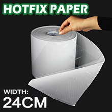 24CM wide Hot fix paper tape iron on heat transfer film super adhesive quality to DIY HotFix rhinestone crystal on garment tools
